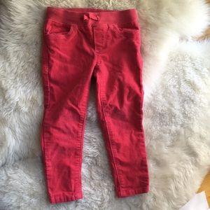 Adorable pink corduroy pants